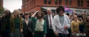 Aaron Sorkin los 7 de Chicago Netflix Yahya Abdul-Mateen II Sacha Baron Cohen Joseph Gordon-Levitt Michael Keaton Eddie Redmayne